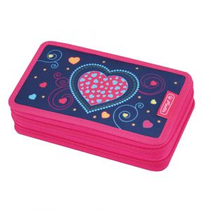 Herlitz Blue Hearts Hard pencil case Polyester Bleu, Rose