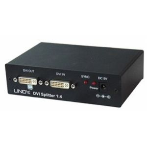 Lindy DVI Video Splitter, 4 Port 4x DVI