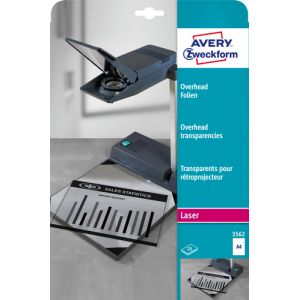 Avery Zweckform Transparant A4 25 Sheets Laser A4 (210×297 mm) Polyester Transparent 25feuilles film d'impression