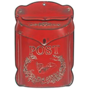 Originals 5064 Briefkasten Wandmontierter Briefkasten Metall Rot