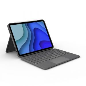 Logitech Folio Touch QWERTZ Schweiz Grau Smart Connector