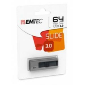 Emtec B250 Slide lecteur USB flash 64 Go USB Type-A 3.2 Gen 1 (3.1 Gen 1) Gris