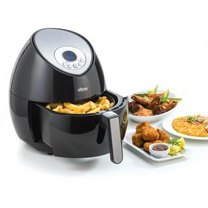 KOENIG Quick & Pure 3 Unique Autonome Hot air fryer 3.2L 1500W Noir, Argent