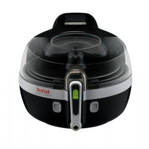 Tefal YV9601 friteuse Friteuse sans huile Double Noir, Argent Stand-alone (placement) 1400 W