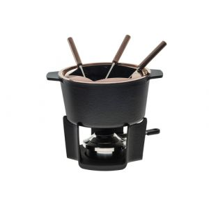 KOENIG B02221 Fondue Set 2 l Schwarz 6 Person(en)