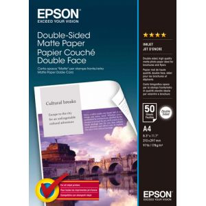 Epson Double-Sided Matte Paper - A4 - 50 Feuilles