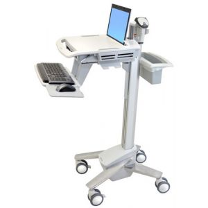 Ergotron StyleView EMR Laptop Cart Panier multimédia Blanc Ordinateur portable