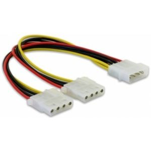 DeLOCK Y-Cable Power > 2x 4pin Molex