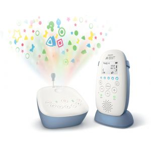 Philips AVENT SCD735/26 Video Babymonitor 330 m Radio Blau, Weiß