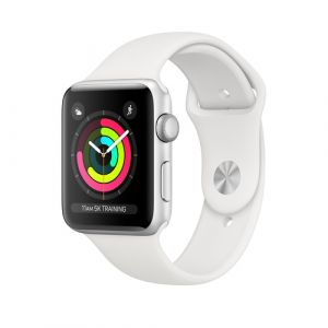 Apple Watch Series 3 OLED 42 mm Argent GPS (satellite)