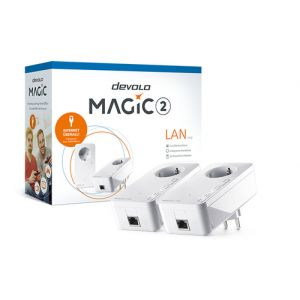 Devolo Magic 2 LAN 2400 Mbit/s Ethernet/LAN Blanc 2 pièce(s)
