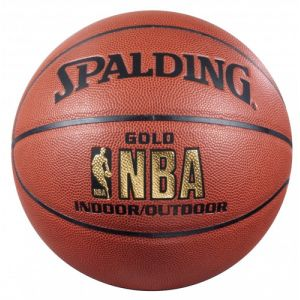 Spalding NBA Gold Indoor/Outdoor Marron
