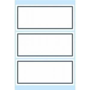 HERMA Book labels 82x36mm grey frame 6 sh. autocollant décoratif