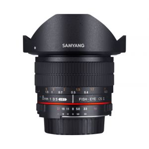 Samyang 8mm F3.5 UMC Fish-Eye CS II SLR Objectif large Noir
