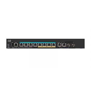 Cisco Small Business SG350X-8PMD Géré L2/L3 Gigabit Ethernet (10/100/1000) Noir 1U Connexion Ethernet, supportant l'alimentation via ce port (PoE)