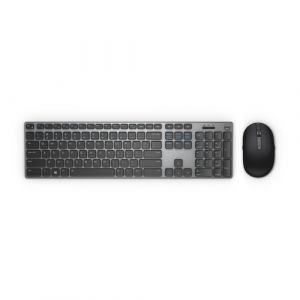 DELL KM717 Tastatur RF Wireless + Bluetooth QWERTY US International Schwarz