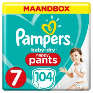 Pampers Baby-Dry 81681822 couche jetable Garçon/Fille 7 104 pièce(s)