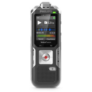 Philips Voice Tracer DVT6010 dictaphone Carte flash Anthracite, Argent