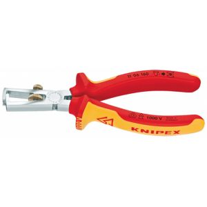 Knipex 11 06 160 pince à dénuder Orange, Rouge