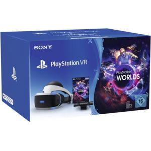 Sony PlayStation VR + Camera + VR Worlds Voucher Casque de visualisation dédié Noir, Blanc 610 g