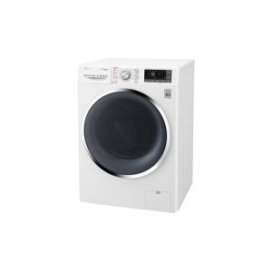LG F14WD96TH2 machine à laver avec sèche linge Charge avant Freestanding (placement) Noir, Blanc A