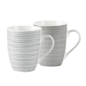KJ Collection 252201 Grau, Weiß Universal Tasse