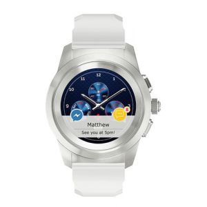 "MyKronoz ZeTime Regular Original montre intelligente Argent, Blanc TFT 3,1 cm (1.22"")"