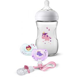 Philips AVENT Pack cadeau Natural, 260 ml, tétine à débit lent