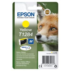 Epson Fox Singlepack Yellow T1284 DURABrite Ultra Ink