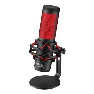 HyperX QuadCast Microphone de table Noir, Rouge