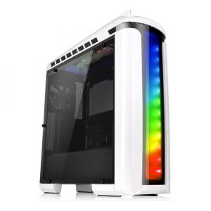 Thermaltake Versa C22 RGB Snow Edition Midi Tower Schwarz, Weiß