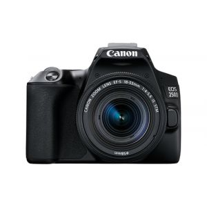 Canon EOS 250D + EF-S 18-55mm f/4-5.6 IS STM Kit d'appareil-photo SLR 24,1 MP CMOS 6000 x 4000 pixels Noir