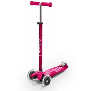 Micro Mobility Maxi Micro Deluxe LED Kinder Dreiradroller Pink