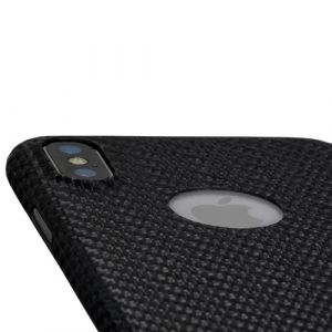 nevox Carbon with Logo window Handy-Schutzhülle Cover Schwarz