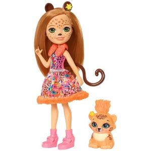 Mattel Enchantimals Cherish Cheetah Puppe