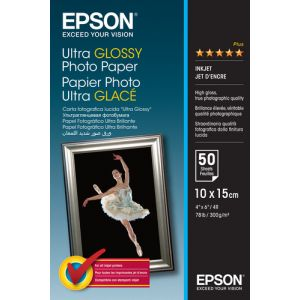 Epson Ultra Glossy Photo Paper - 10x15cm - 50 Blätter