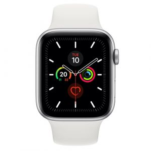 Apple Watch Series 5 Smartwatch Silber OLED GPS