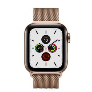 Apple Watch Series 5 montre intelligente OLED Or 4G GPS (satellite)