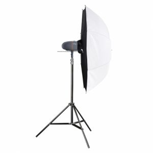Walimex pro Newcomer Studioset Mini 100 unité de flash pour studio photo 100 Ws 1/2000 s Noir, Gris