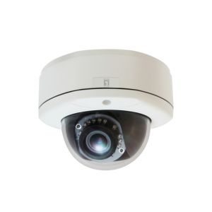 LevelOne Fixed Dome Network Camera, 5-Megapixel, Outdoor, PoE 802.3af, Day & Night, IR LEDs, WDR