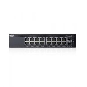 DELL X-Series X1018P Managed L2+ Gigabit Ethernet (10/100/1000) Schwarz 1U Power over Ethernet (PoE)