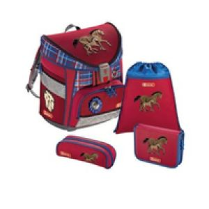 Step by Step Horse Family Mädchen School backpack Polyester Blau, Grau, Rot