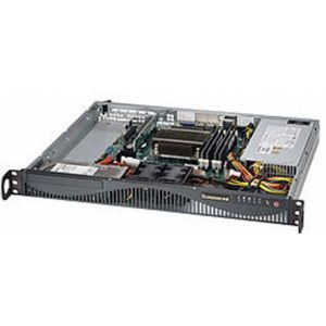 Supermicro 5018D-MF Intel® C222 LGA 1150 (Socket H3) Rack (1U) Schwarz