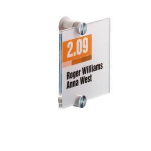 Durable CRYSTAL SIGN 105x105mm Transparent