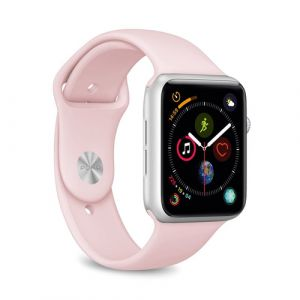 PURO ICON Apple Watch Band Bande Rose Silicone