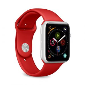 PURO ICON Apple Watch Band Bande Rouge Silicone