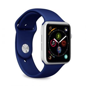 PURO ICON Apple Watch Band Bande Marine Silicone