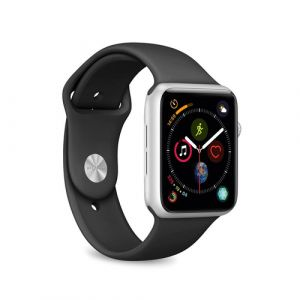 PURO ICON Apple Watch Band Bande Noir Silicone