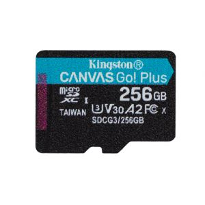 Kingston Technology Canvas Go! Plus mémoire flash 256 Go MicroSD Classe 10 UHS-I